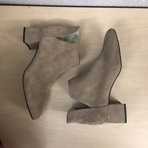Zara Suede Leather Ankle Booties NEW